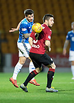 St Johnstone v St Mirren….27.03.19   McDiarmid Park   SPFL<br />Matty Kennedy and Mateo Muzek<br />Picture by Graeme Hart. <br />Copyright Perthshire Picture Agency<br />Tel: 01738 623350  Mobile: 07990 594431
