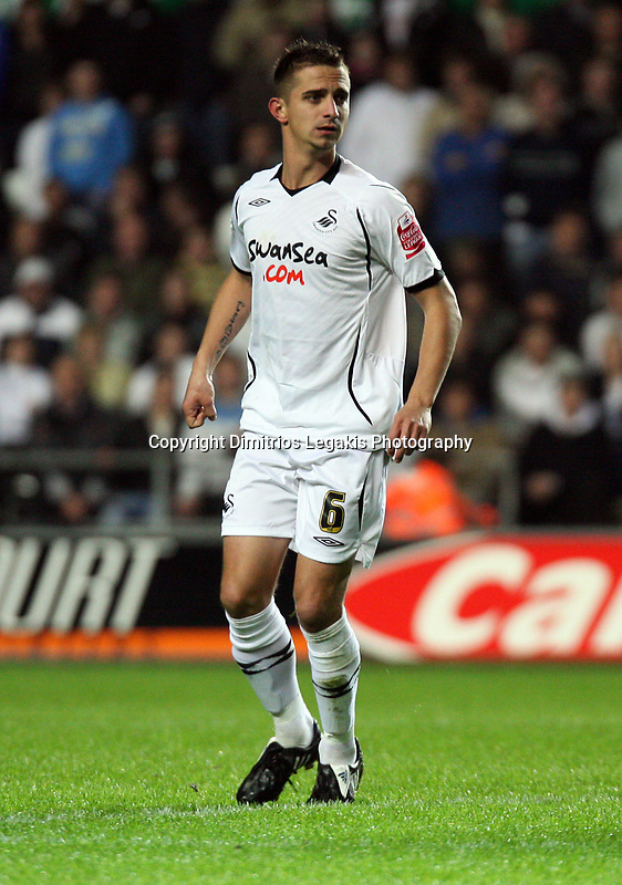 Pictured: Ferrie Bodde of Swansea City<br /> Re: Coca Cola Championship, Swansea City Football Club v Queens Park Rangers at the Liberty Stadium, Swansea, south Wales 21st October 2008.