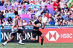 Marvin Dieckmann of Germany (R) runs with the ball during the HSBC World Rugby Sevens Series Qualifier Final match between Germany and Japan as part of the HSBC Hong Kong Sevens 2018 on 08 April 2018 in Hong Kong, Hong Kong. Photo by Marcio Rodrigo Machado / Power Sport Images