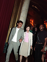 Montreal, July 24, 2000<br /> HK actor Lau Ching-Wan and fis wife attends a  presentation of Johnny To movie ;  Running Out of Time at the 5th FantAsia Film Festival in Montreal, on July 24, 2000.<br /> Photo by Pierre Roussel