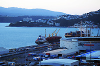 Wellington port industrial area at 7am, Wednesday during Level 4 lockdown for the COVID-19 pandemic in Wellington, New Zealand on Thursday, 19 August 2021.