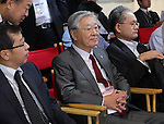 """October 27, 2016, Tokyo, Japan - Japanese electronics giant Hitachi chairman Hiroaki Nakanishi attends the opening of the company's high tech exhibition """"Hitachi Social Innovation Forum"""" in Tokyo on Thursday, October 27, 2016. Hitachi exhibited their latest technology at a two-day convention.   (Photo by Yoshio Tsunoda/AFLO) LWX -ytd-"""