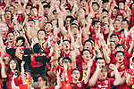 Shanghai SIPG  fans during the AFC Champions League 2017 Round of 16 match between Jiangsu FC (CHN) vs Shanghai SIPG FC (CHN) at the Nanjing Olympic Stadium on 31 May 2017 in Nanjing, China. Photo by Marcio Rodrigo Machado / Power Sport Images