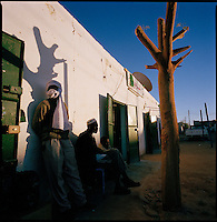 Al Kufra, Libya, November 2004.Sunset in the souk of the southernmost town in Libya, the deep desert starts here...