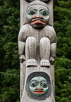Totem pole detail, Ketchikan, Alaska