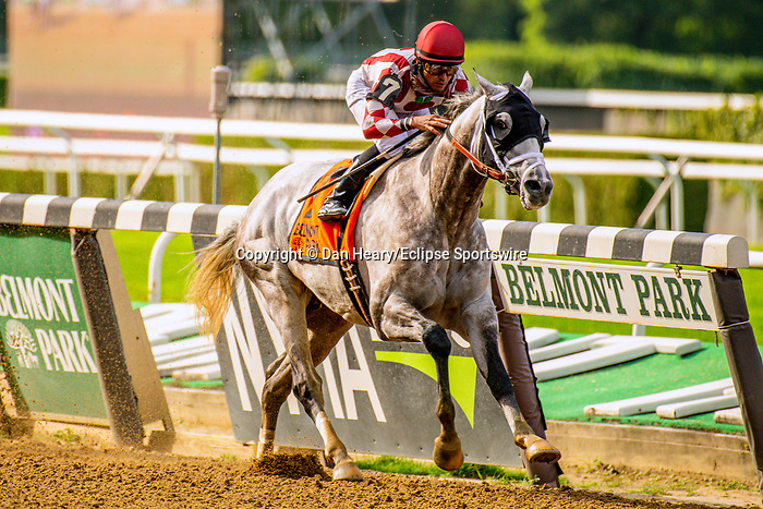 SEPT 07, 2019 : Marconi with Jose Lezcano, wins the $300,000 Grand Prix American Jockey Club Invitational Stakes, going 1 1/2 mile, at Belmont Park, in Elmont, NY, Sept 7, 2019. Dan Hearyi_ESW_CSM,
