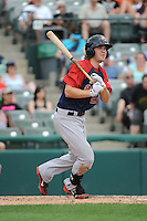 Portland Sea Dogs outfielder Peter Hissey (20) during game against the Trenton Thunder at ARM & HAMMER Park on June 23, 2013 in Trenton, NJ.  Portland defeated Trenton 11-0.  (Tomasso DeRosa/Four Seam Images)