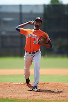 Houston Astros pitcher Martires Arias (53) during an Instructional League game against the Atlanta Braves on September 26, 2016 at Osceola County Stadium Complex in Kissimmee, Florida.  (Mike Janes/Four Seam Images)