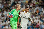 Real Madrid's Mariano Diaz and AS Roma's Robin Olsen during Champions League match. September 19, 2018. (ALTERPHOTOS/A. Perez Meca)