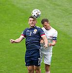 14.06.2021 Scotland v Czech Republic:  John McGinn and Vladimir Darida