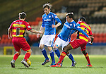 Partick Thistle v St Johnstone…23.02.16   SPFL   Firhill, Glasgow<br />Danny Swanson and Murray Davidson battle with Abdul Osman and Steven Lawless<br />Picture by Graeme Hart.<br />Copyright Perthshire Picture Agency<br />Tel: 01738 623350  Mobile: 07990 594431