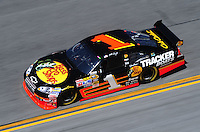 Feb 07, 2009; Daytona Beach, FL, USA; NASCAR Sprint Cup Series driver Martin Truex Jr during practice for the Daytona 500 at Daytona International Speedway. Mandatory Credit: Mark J. Rebilas-
