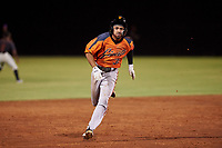 AZL Giants Orange Najee Gaskins (32) runs to third base during an Arizona League game against the AZL Giants Black on July 19, 2019 at the Giants Baseball Complex in Scottsdale, Arizona. The AZL Giants Black defeated the AZL Giants Orange 8-5. (Zachary Lucy/Four Seam Images)
