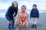 After enjoying a swim in Banna beach on Sunday, l to r: Laura, Denis and Donnacha Brosnan.