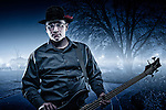 USA, Oregon, Keizer, Bassist. MR, Digital Composite