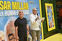 """LOS ANGELES - JULY 30:  Cesar Millan and Chris Albert attend the premiere event for National Geographic's """"Cesar Millan: Better Human, Better Dog"""" at the Westfield Century City Mall Atrium on July 30, 2021 in Los Angeles, California. (Photo by Stewart Cook/National Geographic/PictureGroup)"""