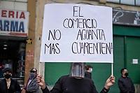 San Victorino Protesta Coronavirus Dia 143 Cuarentena COVID19, Bogota, Colombia. 15-08-2020