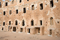 Qasr al-Haj, Libya - Fortified Berber Granary, 12th Century, Openings to Inside Storage Chambers