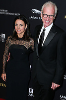 BEVERLY HILLS, CA, USA - OCTOBER 30: Julia Louis-Dreyfus, Brad Hall arrive at the 2014 BAFTA Los Angeles Jaguar Britannia Awards Presented By BBC America And United Airlines held at The Beverly Hilton Hotel on October 30, 2014 in Beverly Hills, California, United States. (Photo by Xavier Collin/Celebrity Monitor)
