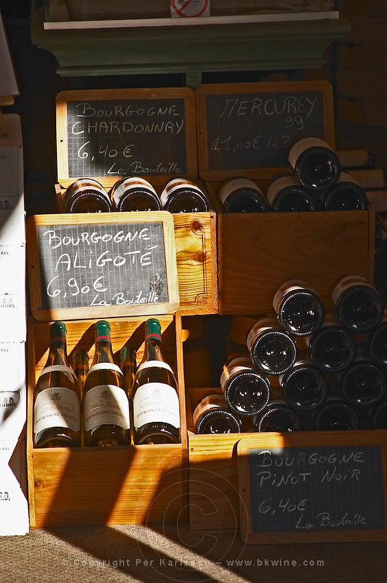 wine shop chalk board beaune cote de beaune burgundy france