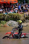 Zac McKean stalls metres from the first River Race finish line. 2021 New Zealand Motocross Grand Prix at Old Gorge Road in Woodville , New Zealand on Sunday, 31  January 2021. Photo: Dave Lintott / lintottphoto.co.nz