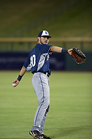 AZL Padres right fielder Mason House (40) warms up in the outfield between innings of a game against the AZL Cubs on August 28, 2017 at Sloan Park in Mesa, Arizona. AZL Cubs defeated the AZL Padres 2 9-4. (Zachary Lucy/Four Seam Images)