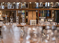 The Simon Pearce glassblowing showroom and store, Quechee, Vermont, USA