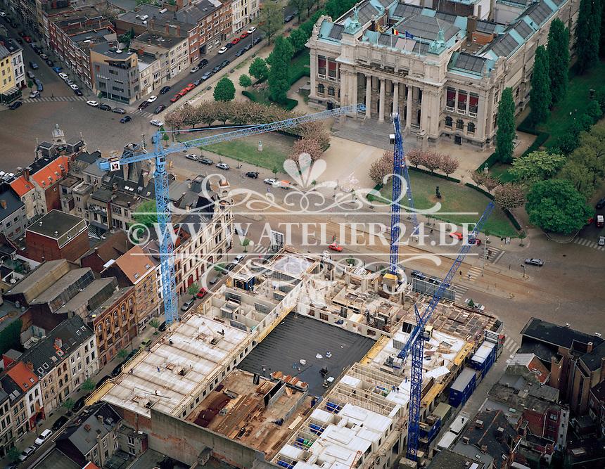 Mei 1996. Bouw Hippodroom tegenover Museum van Schone Kunsten in Antwerpen.