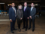 © Joel Goodman - all rights reserved . 08/01/2014 . Manchester , UK . David Cameron poses with delegates after the speeches . The British Prime Minister , David Cameron , and the Chancellor of the Exchequer , George Osborne , deliver speeches on the economy and on the economic development and devolution of powers to the North West of England at the Old Granada Studios , Quay Street , Manchester . Photo credit : Joel Goodman
