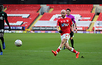 Jonathan Williams of Charlton Athletic crosses the ball during Charlton Athletic vs Plymouth Argyle, Emirates FA Cup Football at The Valley on 7th November 2020