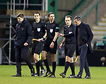 27.01.2021 Hibs v Rangers: Jack Ross makes his feelings known to the officials at full time