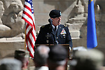 Nevada National Guard Brig. Gen. Zachary Doser speaks at the 19th Annual Flag Day Ceremony & U.S. Army Birthday ceremony at the Nevada Veterans Memorial in Carson City, Nev. on Wednesday, June 14, 2017. <br />