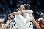 Real Madrid's Luka Doncic (r) and Galatasaray Odeabank Istambul's Emir Preldzic during Euroleague, Regular Season, Round 5 match. November 3, 2016. (ALTERPHOTOS/Acero)