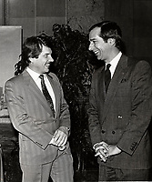 Jean Dore et Daniel Johnson, 4 mai 1987