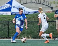 Allston, Massachusetts - August 4, 2017:  In a National Women's Soccer League (NWSL) match, Boston Breakers (blue) tied FC Kansas City (white), 2-2, at Jordan Field.