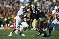 South Bend, IN - OCTOBER 4:  Defensive Tackle Ekom Udofia #54 of the Stanford Cardinal during Stanford's 28-21 loss against the Notre Dame Fighting Irish on October 4, 2008 at Notre Dame Stadium in South Bend, Indiana.
