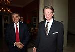 ALFONSO PECORARO SCANIO CON L'AMBASCIATORE MICHAEL GERDTS <br /> PARTY  PER LA PRESIDENZA DEL CONSIGLIO D'EUROPA<br /> RESIDENZA DELL'AMBASCIATORE TEDESCO - VILLA ALMONE     ROMA 2007