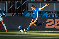 SAN JOSE, CA - MAY 22: Florian Jungwirth #23 of the San Jose Earthquakes passes the ball during a game between San Jose Earthquakes and Sporting Kansas City at PayPal Park on May 22, 2021 in San Jose, California.