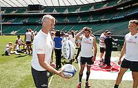 Photo: Richard Lane/Richard Lane Photography. .Emirates Airline Media training day with the England Sevens team at Twickenham. 13/05/2011. England Sevens' Richard Wegrzyk (masseur).
