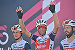 Vincenzo Nibali (ITA) Trek-Segafredo at sign on before the start of Stage 8 of the 103rd edition of the Giro d'Italia 2020 running 200km from Giovinazzo to Vieste, Sicily, Italy. 10th October 2020.  <br /> Picture: LaPresse/Massimo Paolone | Cyclefile<br /> <br /> All photos usage must carry mandatory copyright credit (© Cyclefile | LaPresse/Massimo Paolone)