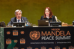 Opening Plenary Meeting of the Nelson Mandela Peace Summit