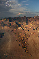 aerial photograph of an afternoon storm entering Death Valley National Park, northern Mojave Desert, California