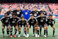 D. C. United starting XI. The New York Red Bulls defeated D. C. United 4-1 during a Major League Soccer match at Giants Stadium in East Rutherford, NJ, on August 10, 2008.