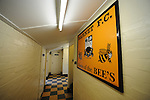 Barnet 1 Rochdale 0, 08/05/2010. Underhill Stadium, League 2. The final game of the season at Underhill. The Bees must beat Rochdale to guarantee their survival. Rochdale are celebrating promotion to League one. The changing room area at Underhill. Photo by Simon Gill.