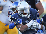 Nevada running back Don Jackson (6) is tackled by San Jose State safety Maurice McKnight (10) during the second half of an NCAA college football game in Reno, Nev., on Saturday, Nov. 14, 2015. (AP Photo/Cathleen Allison)