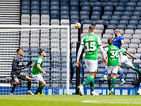 22nd May 2021; Hampden Park, Glasgow, Scotland; Scottish Cup Football Final, St Johnstone versus Hibernian; Shaun Rooney of St Johnstone scores the opening goal for 0-1 in minute 32 , past Hibs keeper Macey