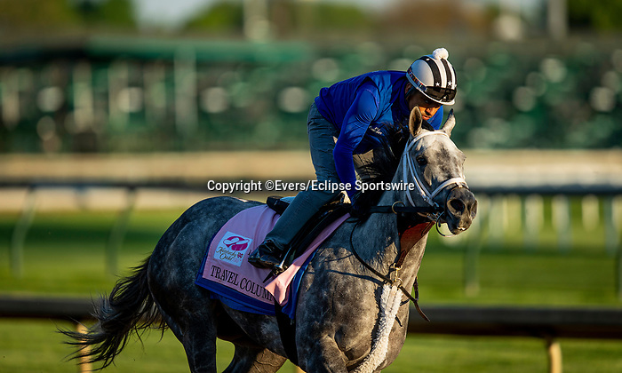 April 27, 2021 Travel Column gallops in preparation for the Kentucky Oaks at Churchill Downs in Louisville, Kentucky on April 27, 2021. EversEclipse Sportswire/CSM