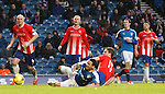 James Tavernier taken out again for a penalty kick this time by Christopher Kane