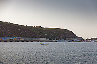 Pictured: Fishguard Port, west Wales, UK. Wednesday 28 August 2019<br />