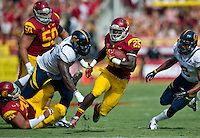 LOS ANGELES, CA - September 22, 2012:  USC running back Silas Redd (25) during the USC Trojans vs the Cal Bears at the Los Angeles Memorial Coliseum in Los Angeles, CA. Final score USC 27, Cal 9.